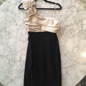 Dresses & Skirts - Black and Cream Short Dress